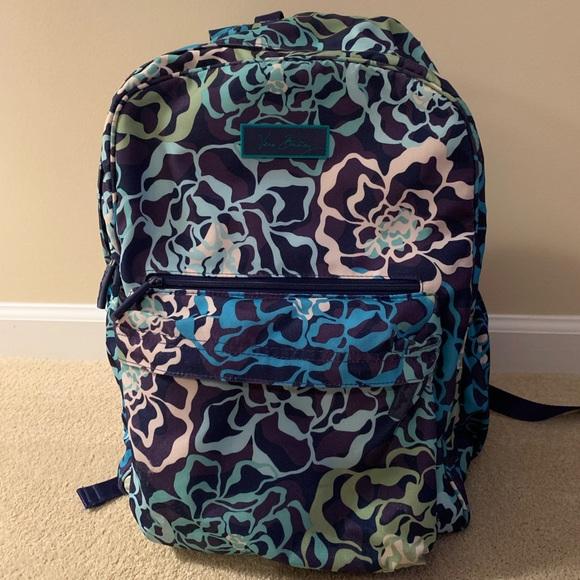 Vera Bradley Handbags - Vera Bradley Blue/Green Floral Pattern Backpack💙